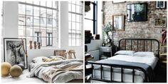 Industriele slaapkamer Collage