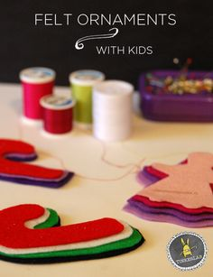Post image for How to Make Felt Ornaments with Kids