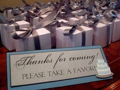 Bridal shower favors...chocolate truffles in small box