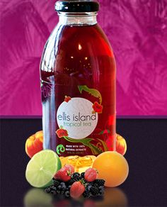 Ellis Island Tropical Tea made with all-natural ingredients, including #hibiscus sabdariffa.