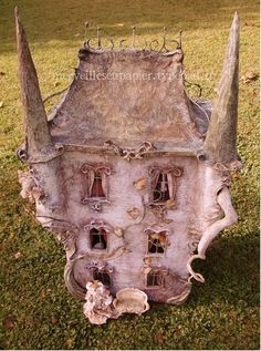 papier mache doll house