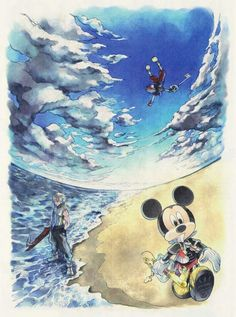 Mickey, Riku, Sora Kingdom Hearts