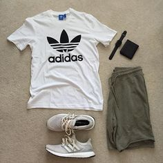 Outfit to buy men's summer outfits, summer wear, cool outfits, casual outfits, Mode Outfits, Casual Outfits, Men Casual, Summer Outfits Men, Outfit Summer, Summer Wear, Looks Adidas, Mode Cool, Style Masculin