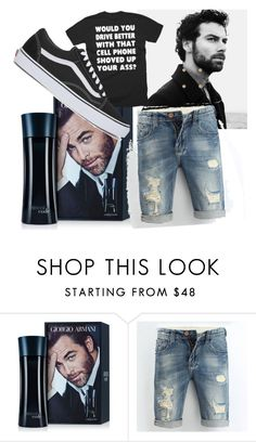 """Untitled #463"" by domla ❤ liked on Polyvore featuring Giorgio Armani, Vans, men's fashion and menswear"