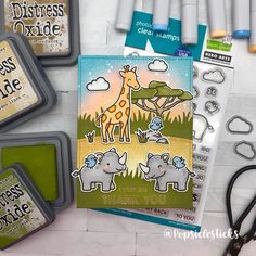 """Davina on Instagram: """"I colored until the wee hours last night, then assembled my card this morning. Two things happened... I was sleepy and lazily didn't clear…"""" I Am Sleepy, Hero Arts Cards, Paper Craft Making, Lawn Fawn, Creative Cards, I Card, Cardmaking, Paper Crafts, Rhinos"""