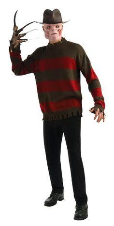 ebb0bce5fce3 Nightmare On Elm Street Deluxe Freddy Sweater, Red/Black, Standard Costume  Rubie's Costume