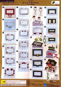 nanoblock instructions - Google Search Legos, Lego Lego, Lego House, Lego Projects, Lego Instructions, Lego Creations, Building A House, Gallery Wall, Block Art