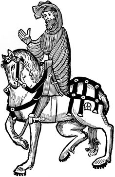 The Knight from Chaucer's Canterbury Tales. Illustrated by Agnus MacDonall.
