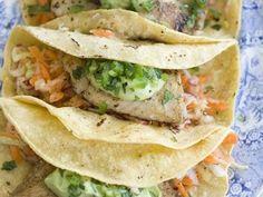 Healthy Fish Tacos With Buttermilk Avocado Puree