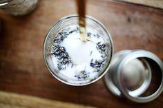 Lavender infused sugar.