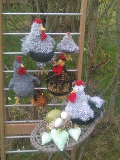 Landlust-Hühner mit stolzem Hahn.