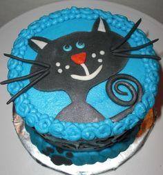 Black Cat Cake ~ B-Day cake for Mr. Kitty