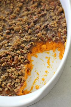 Free up some oven space with this Instant Pot sweet potato casserole. It's amazingly creamy, flavorful, and buttery. An easy sidedish.
