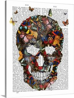 635d87071e3 Image result for butterfly and skull wall art