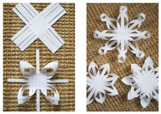 Make festive paper snowflakes with our printable snowflake templates and tutorial. These snowflakes make perfect Christmas decorations.How to make giant paper snowflakes step by step photo tutorial – ArtofitIdeas Diy Paper Kids Snowflakes For Noel Christmas, Simple Christmas, Handmade Christmas, Christmas Ornaments, Christmas Crafts For Kids To Make, Christmas Activities, Holiday Crafts, Paper Snowflake Template, Paper Snowflakes