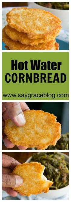 Pan fried cornmeal mixed with shortening and boiling water make these hot water cornbread patties a delicious staple for all southern bites!!