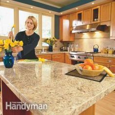 DIY:: How to Install Beautiful Granite Countertops  (Kitchen Tile) Like a Pro ! Step by Step Tutorial