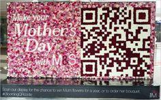 Marks & Spencer font un qrcode avec des fleurs fraiches