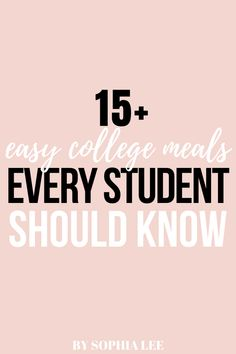 these easy college meals were so simple to make and actually super yummy!! highly recommend for people that aren't great at cooking (like me!) College Freshman Tips, Easy College Meals, College Guide, College Roommate, College Hacks, College Dorm Rooms, First Apartment Checklist, First Apartment Essentials, Dorm Essentials
