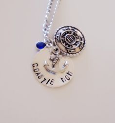Coastie Mom Necklace. Coast Guard Mother. USCG. by RedandthePug