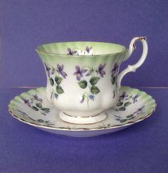 Royal Albert Purple Flowers Teacup