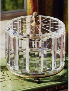Pretty much out of my price range at $650, but this cut crystal box is exquisite.