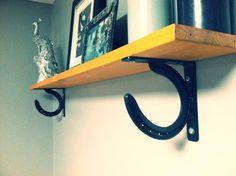Horse Shoe Shelf Brackets  Set of 2 for 1 Shelf by HorseShoeCrew, $29.99