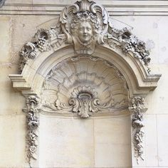 Intricate moulding at Chateau Les Crayeres, Reims, France.