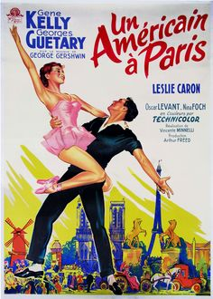 "French-release poster for ""An American in Paris"""