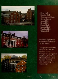 "Athena Yearbook, 2006. ""This green is closest to many of the athletic facilities and the Colleges of Osteopathic medicine, Health and Human Services, Life Sciences building, and Engineering and Technology. :: Ohio University Archives"