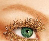 Golden shimmer eye lashes