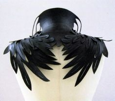 Black Feather Winged Collar