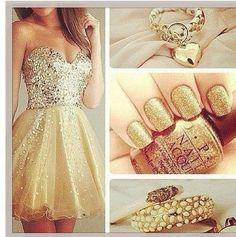 #Outfit #Gold