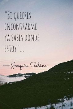Joaquin Sabina - frases de amor