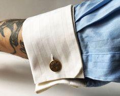 Gemelli vintage a catena con stemma di Obsessionary su Etsy