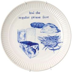 Julie Green Paints The Final Meals Of Death Row Inmates Onto Porcelain Plates