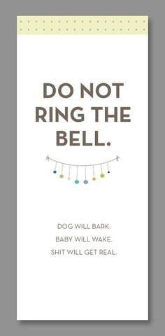 Do-Not-Disturb Baby Door Hangers (free printable) - Pregnant Chicken