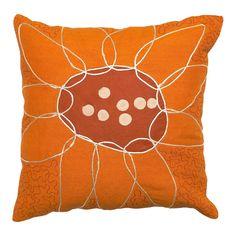Orange Bloom Pillow.