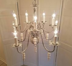 Check out this item in my Etsy shop https://www.etsy.com/listing/508372609/chandelier-hamptons-grey-shabby-chic