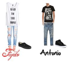 """2 Worlds & 1 Portal"" by nerdyredd ❤ liked on Polyvore featuring H&M, Vans and Hollister Co."