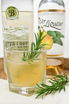rosemary + pear cocktail