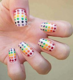 Summer♥♥ easy nail art with dotter:)
