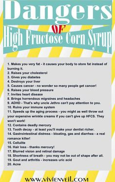 I have given it up..have you? NO GMO HIGH FRUTOSE CORN SYRUP IN MY FOOD!