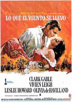 01-Lo que el viento se llevo 1939 Creo que en toda la historia del cine no han habido unos protagonistas elegidos tan a conciencia como estos dos.