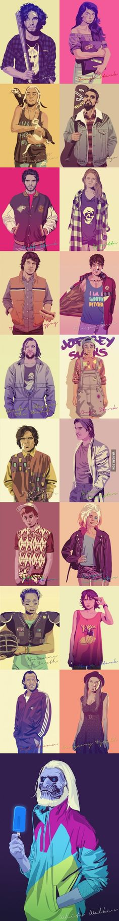 Game Of Thrones In Hipster Style