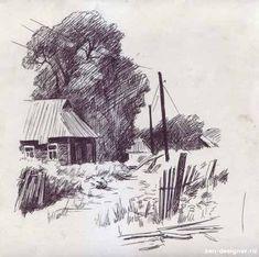 Landscape Sketch, Landscape Drawings, Landscape Art, Anime Girl Drawings, Art Drawings Sketches, Environment Sketch, Composition Painting, Bird Sketch, City Painting