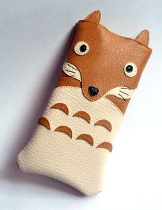 Housse téléphone portable renard simili-cuir iPhone : Etuis portables par alombreduncerisier