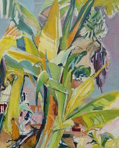 """Joan Stephan, """"Kleine Bananenstaude"""" (17) Mit einem Klick auf 'Als Kunstkarte versenden' versenden Sie kostenlos dieses Werk Ihren Freunden und Bekannten."""