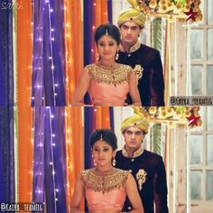~ LIKED BY MOHSIN KHAN ~ #Throwback @shivangijoshi18 @khan_mohsinkhan - - - •{ #ShivangiJoshi #Naira #MohsinKhan #Karthik #Kaira #Yrkkh }• Kartik And Naira, Kaira Yrkkh, Mohsin Khan, Cutest Couple Ever, Indian Couture, Indian Outfits, Cute Couples, Indian Fashion, Bollywood