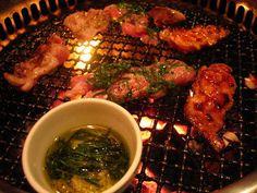 ONITEI chicken bbq. Reservations a must! Onitei Nabe (hot pot, one of best, order in advance) 5,600 yen, Momoyaki (Chicken Thighs) 850-950 yen, Neck No Negi Shio (Chicken Neck meat with salt and green onion) 950 yen, Tsukune Wasabi (Minced Chicken with Wasabi) 950 yen, Sunagimo Shioyaki (Salted Chicken Gizzard) 850 yen, Onitei Salad (Onitei's Chicken Salad) 1,200 yen, Samgyetang (Whole Chicken in Chicken Soup with sticky rice inside) 5,600 yen, Other dishes from 850-1,500 yen